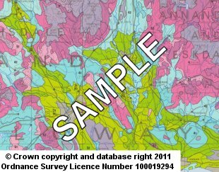 Soil and LCA Maps Coloured 1:250 000 sample image