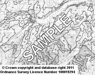 Soil Maps Uncoloured 1:50 000 sample image